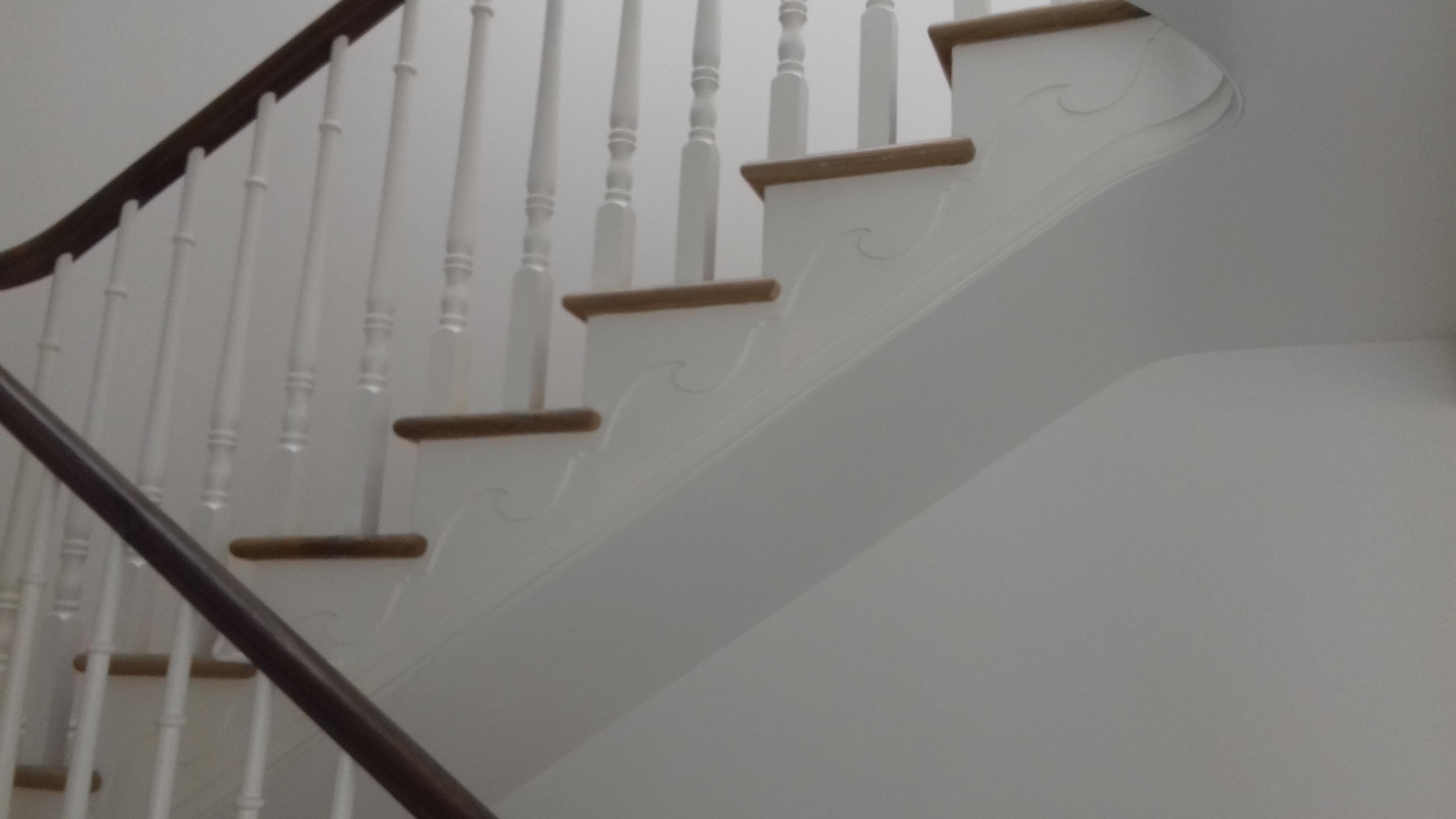 Stairs underside.