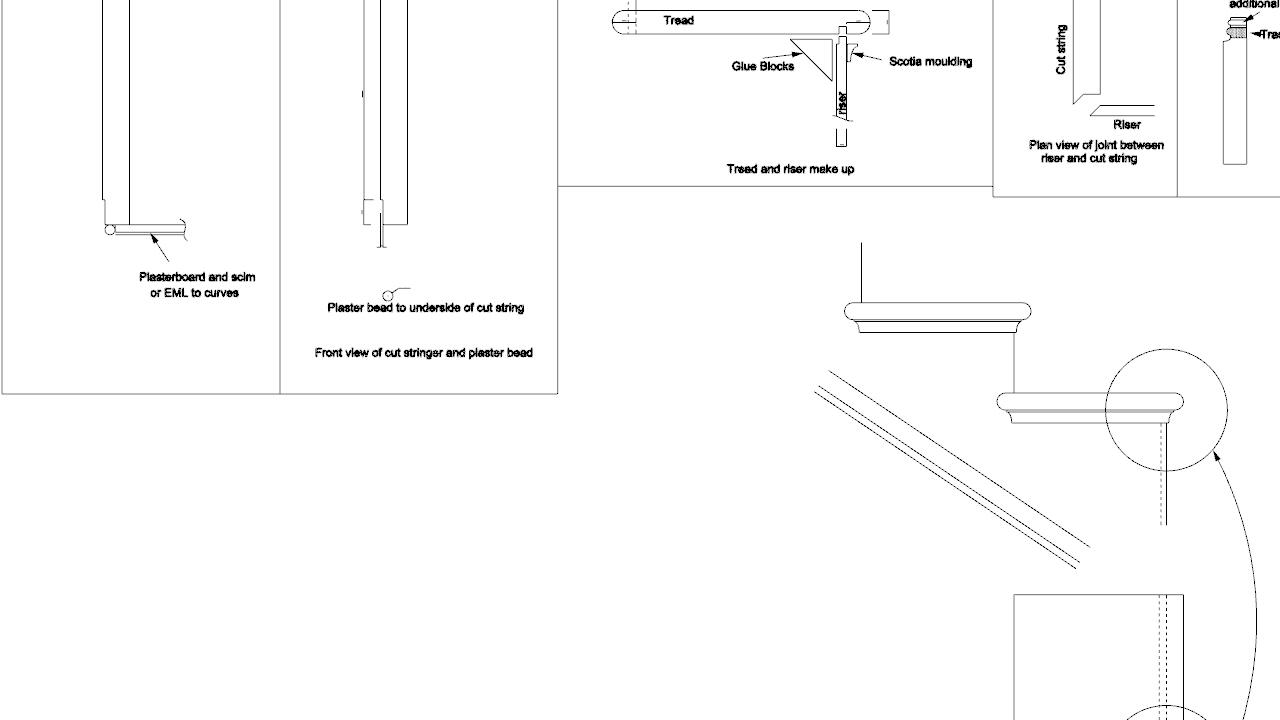 Production drawings  – Staircase and handrail design